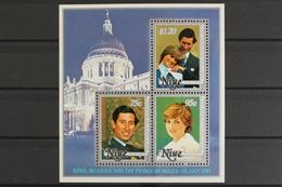 Niue, MiNr. Block 48, Hochzeit, Charles Und Diana, Postfrisch / MNH - Niue
