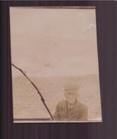 Photo ( 8.5 X 6.5 Cm ) Vieil Homme à Casquette - Personnes Anonymes