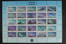 Marshall-Inseln, MiNr. 683-707, ZD Bogen, Schiffe, Postfrisch / MNH - Marshall Islands