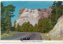 ETATS-UNIS : Approach To MT. Rushmore Memorial Black Hills , South Dakota - Etats-Unis