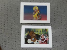 2 Cartes Postales Disney La Belle Et La Bète - Altri