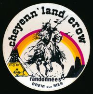 AUTOCOLLANT, STICKERS : BREM-SUR-MER (Vendée), Cheyenn' Land Crow, Indiens, Cheval, Tipi - Stickers