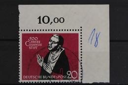 Deutschland (BRD), MiNr. 301, Ecke Re. Oben, Gestempelt - Gebraucht