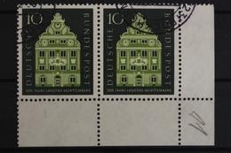 Deutschland (BRD), MiNr. 279, Waag. Paar, Ecke Rechts Unten, Gestempelt - BRD