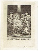 NATIVIDAD / CHRISTMAS  - Oude Kopergravure / Old Copperplate / Gravure Sur Cuivre - 7 X 9,5 Cm - Graveur COR. VAN MERLEN - Santini