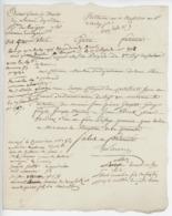 """Avant Garde De Droite De L'Armée Du Rhin An 2 - 29.6.1794 """"Liste Des Déserteurs"""" - Documents Historiques"""