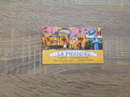 Carte De Cafe Brasserie  Le Parisien  Paris 6eme - Cartes De Visite