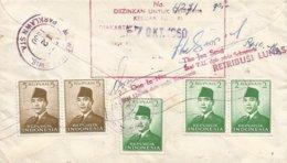 Indonesia 1960 Djakarta Currency Control Censor Registered Cover - Indonesien