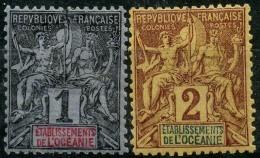 Oceanie (1892) N 1+2 * (charniere) - Oceania (1892-1958)