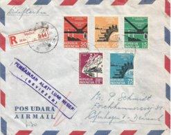 Indonesia 1959 Medan Cogwheel Train Industry Currency Control Censor Registered Cover - Indonesien