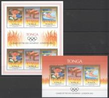 B019 TONGA SPORT OLYMPIC GAMES LONDON 2012 2KB MNH - Summer 2012: London