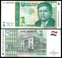 10 Pieces Tajikistan - 1 Somoni 1999 UNC - Afghanistan