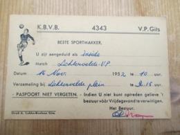 Gits Voetbal 1952 - Programmes