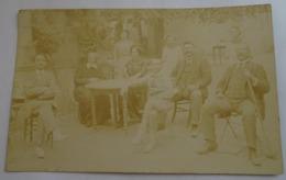 Cpa - Photo Famille En Extèrieur - Lamalou ( 34 ) 1911 - Fotografía