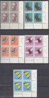 SCHWEIZ  MiNr. 550-554, 4erBlock Eckrand Rechts Unten, Postfrisch **, Pro Juventute 1950, Insekten - Ungebraucht