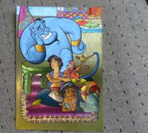 1 Carte Postale Disney Aladin Reflet Métal - Disney