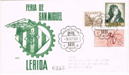 34211. Carta Certificada LERIDA 1982. Feria San Miguel - 1931-Hoy: 2ª República - ... Juan Carlos I