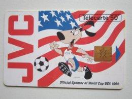 Télécarte De 50 Unités - JVC - COUPE DU MONDE DE FOOTBALL 1994 - FRANCE TELECOM - Sport