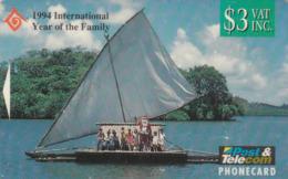 Fiji Christmas 1994 GPT, $3 Fidji Children With Santa, BCFJB10337 - Fiji