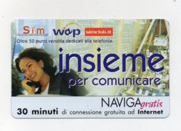 "Scheda Telefonica "" Naviga Gratis "" - Sim Wap - 30 Minuti - Nuova - Scadenza 15.1.2004 - (FDC17620) - Schede GSM, Prepagate & Ricariche"
