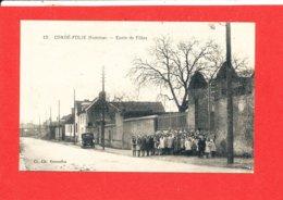 80 CONDE FOLIE Cpa Animée Ecole Des Filles           12 Cl Ch Gorenflos - Frankrijk