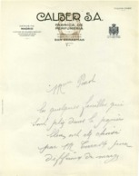 CALBER S.A. FABRICA DE PERFUMERIA  Miseicordia 4 SAN SEBASTIAN - Espagne