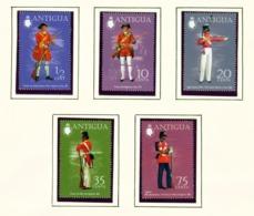 ANTIGUA  -  1973 Military Uniforms Set Unmounted/Never Hinged Mint - Antigua Und Barbuda (1981-...)