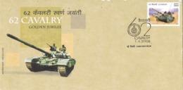 34215. Carta F.D.C. NEW DELHI (India) 2006. Golden Jubilee 62 CAVALRY, Caballeria, Tanque, Tank - FDC