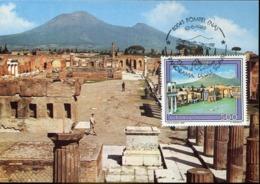 48170  Italia, Maximum 1989 Pompei, (vesuvio Volcano) Archeology, Rest Of Pompei - Maximum Cards