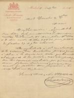 PARFUMERIA INGLESIA Siste Romero 3 Careta De SaGeronimo 6 MADRID 14 Dec 1895 - Espagne