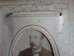 """CDV 03  """"Mr GUILLARD CHEF DE MUSIQUE à CUSSET"""" PHOTOGRAPHE CHERI ROUSSEAU VICHY Photo Sortie D'un Album FAMILLE DESBREST - Ancianas (antes De 1900)"""