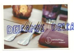 Publicité Pour Www.sensum.be. Restaurants. Crabbegat. Fourchettes - Publicité