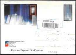 Dominicana: Intero, Stationery, Entier, Raccomandata, Registered, Recommandé, Faro Di Colombo, Lighthouse Of Columbus, - Fari