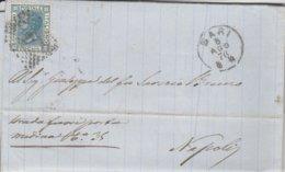 Bari. 1876. Annullo Piccolo Cerchio A Punti BARI, Su Lettera Affrancata, Completa Di Testo - 1861-78 Vittorio Emanuele II