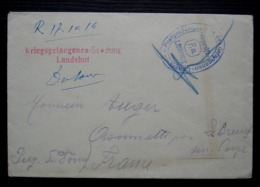 Landshut Gefangenen Lager 1916 Lettre De Prisonnier Antonon Dutan 5eme Compagnie Pour Orsonnette (Puy De Dôme) - Allemagne