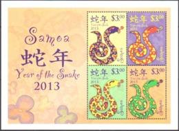 Mint S/S Year Of The Snake 2013 From Samoa - Samoa