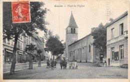A-19-5313 :  COURS. PLACE DE L'EGLISE. - Cours-la-Ville