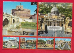 CARTOLINA VG ITALIA - Saluti Da ROMA - Vedutine Multivue - 10 X 15 - 1972 AMB. ROMA TRIESTE - Saluti Da.../ Gruss Aus...