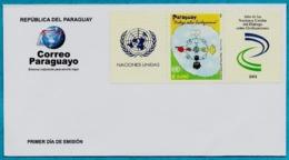 PARAGUAY 2001 - UNISSUED FDC WITHOUT CANCEL - DIALOGUE DIALOG DIALOGO AMONG CIVILIZATIONS CIVILISATIONS - JOINT ISSUE - Emissions Communes