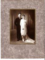 Couple De Mariés Photo Durand 12 Rue Du Bois Clichy - Personnes Anonymes
