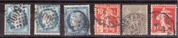 Oblitérations D'ALGERIE Sur Timbres Anciens De France - Postzegels