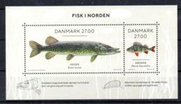NORDEN 2018 Danmark Denmark Fish M/S MNH - Joint Issues