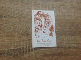 Carte De Visite De Restaurant   La Petite Cour  Paris 6eme - Cartes De Visite