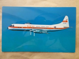 QANTAS  EMPIRE AIRWAYS   ELECTRA    AIRLINES ISSUE / CARTE COMPAGNIE - 1946-....: Ere Moderne