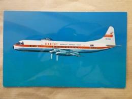 QANTAS  EMPIRE AIRWAYS   ELECTRA    AIRLINES ISSUE / CARTE COMPAGNIE - 1946-....: Era Moderna