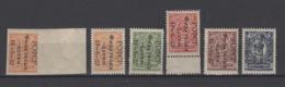 ++ 1922 Mi. 185(A+B)-189 ** Philately For Children Full Series MNH OG MNH See Discription - Neufs