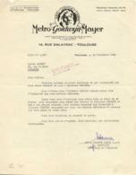 METRO GOLDWYN MAYER  14 Rue Dalayrac Toulouse RV 22 Sept 42 - Frankreich