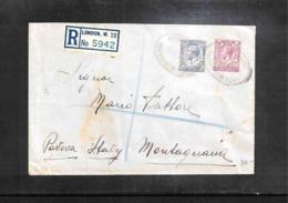 Great Britain 1935 Interesting Registered Letter - 1902-1951 (Könige)