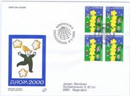 Denmark 2000.  Europa - CEPT;  FDC (Populær Filateli) - Europa-CEPT
