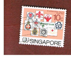 SINGAPORE   -  SG 516  -    1985  INT. YOUTH YEAR  -  USED ° - Singapore (1959-...)